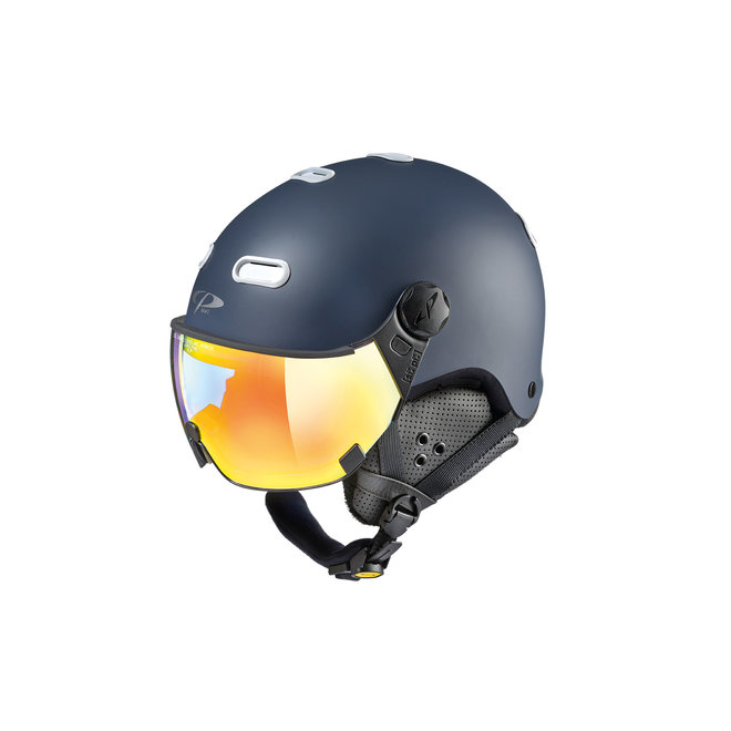CP Helmets Carachillo Donkerblauw met Multicolour Vario Spiegel Vizier