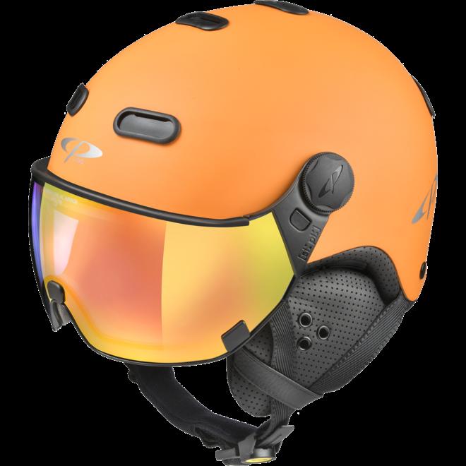 CP Helmets Carachillo Oranje met Multicolour Vario Spiegel Vizier
