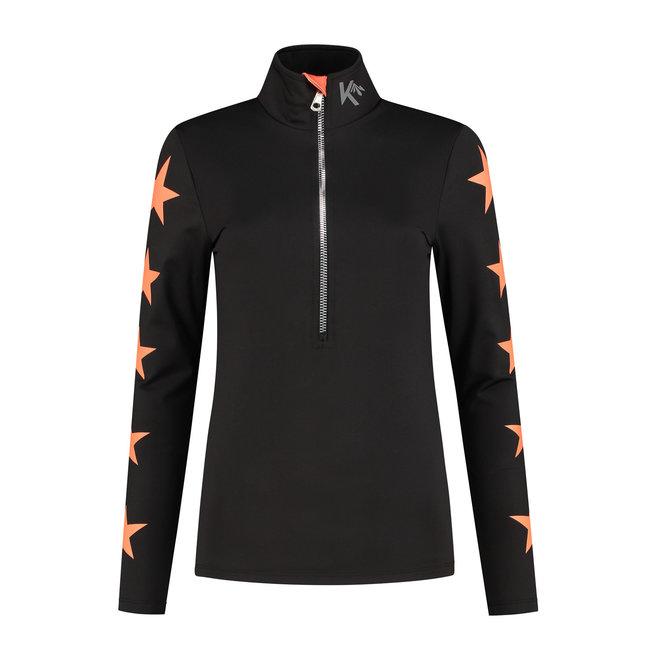 Kou Sportswear Dames Ski Pully Oranje
