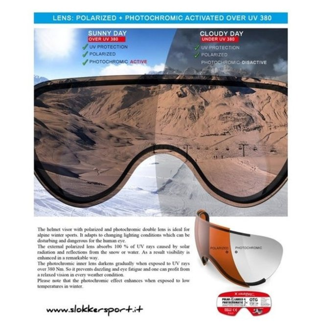 Slokker Balo Polar Photocromatic Skihelm Oranje/Zwart