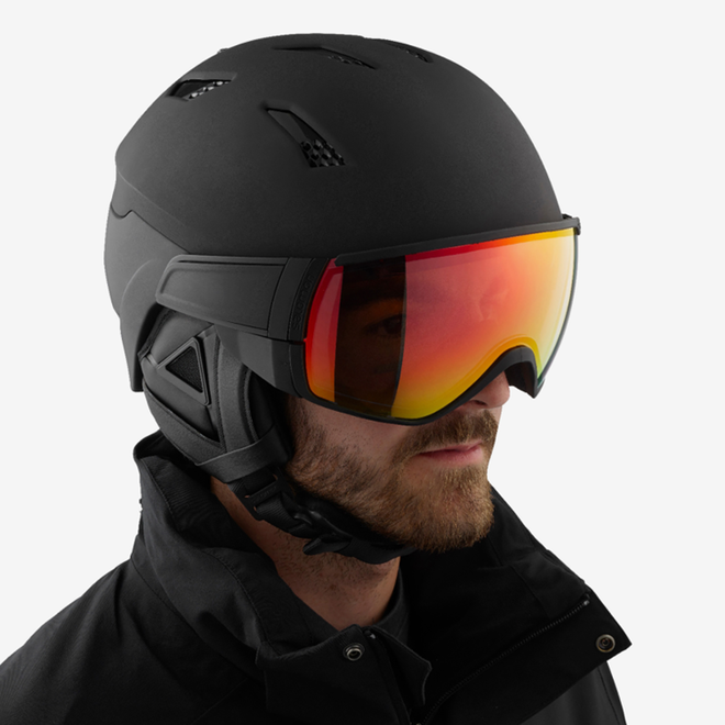 Salomon Ski Helm Driver+ Photo Zwart/Rood All Weather