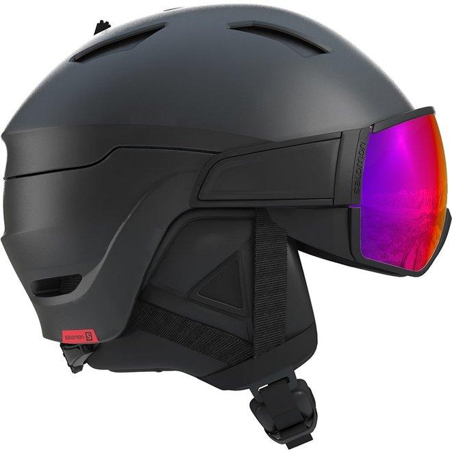 Salomon Ski Helm Driver Zwart/Rood Accent/Solar