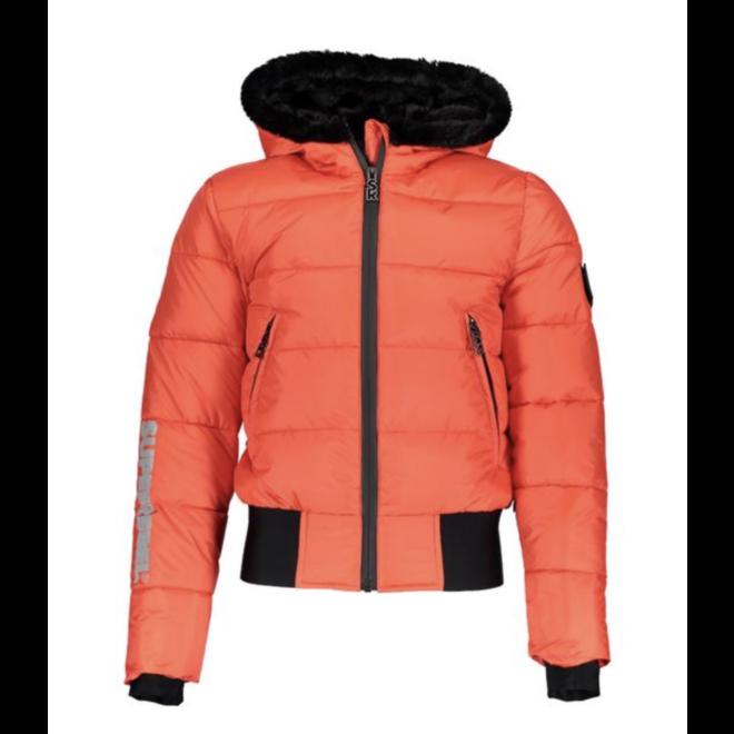 Super Rebel Basic shiny girls ski jacket