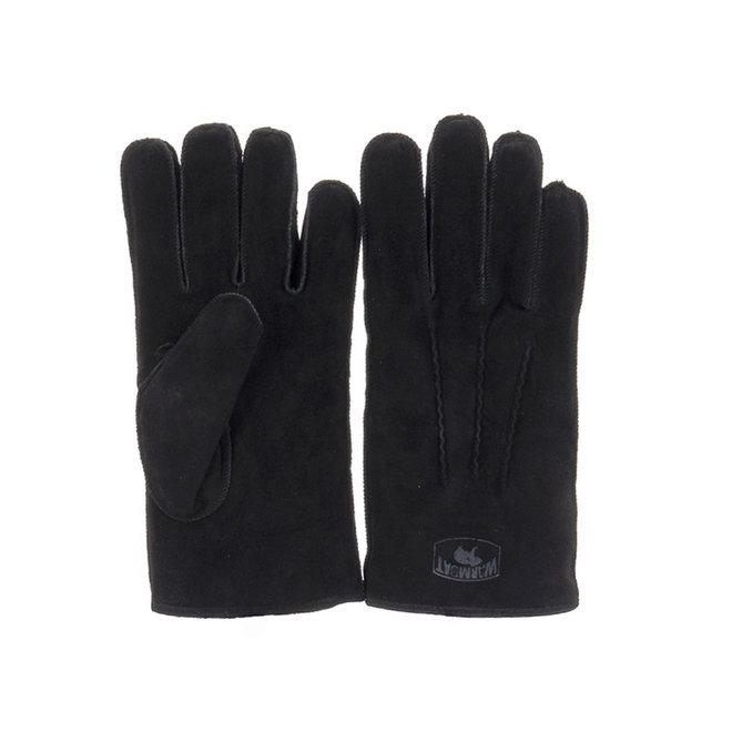 Heren Handschoenen Suede Zwart
