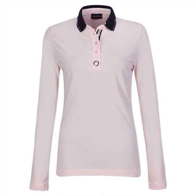 Golfino Dames Silver Touch Polo Roze