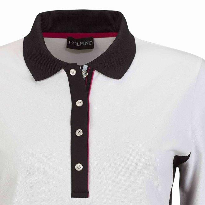 Golfino Dames Revolution Polo Wit/Zwart