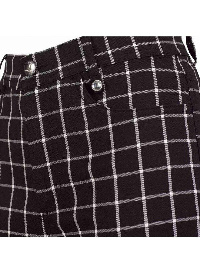 Golfino Dames Golf Broek Zwart wit Geruit