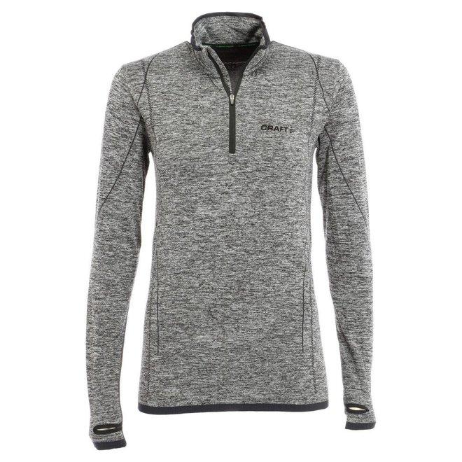 Craft Heren Active Comfort zip Thermoshirt Grijs/Zwart