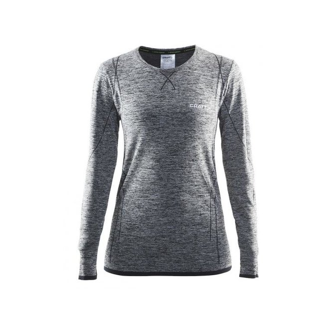 Craft Dames Active Comfort RN LS Thermoshirt Grijs/Zwart
