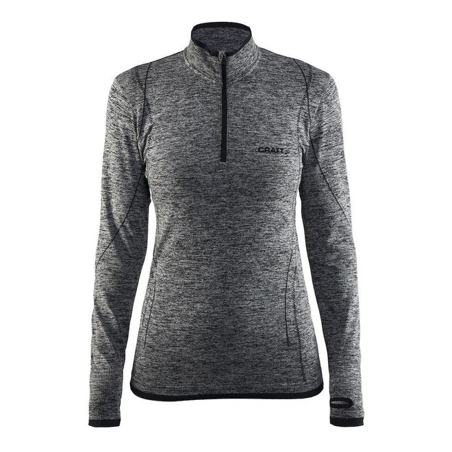 Craft Dames Active Comfort Zip Thermoshirt Grijs
