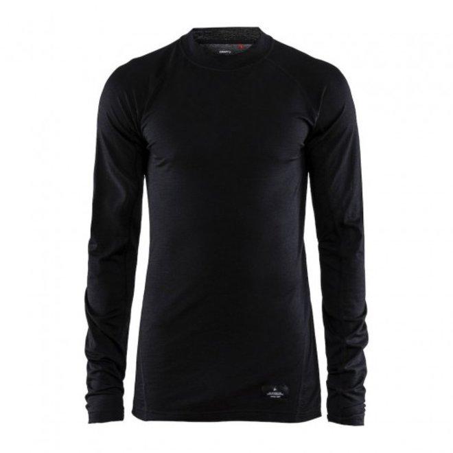 Craft Heren Thermo Shirt Merino Zwart
