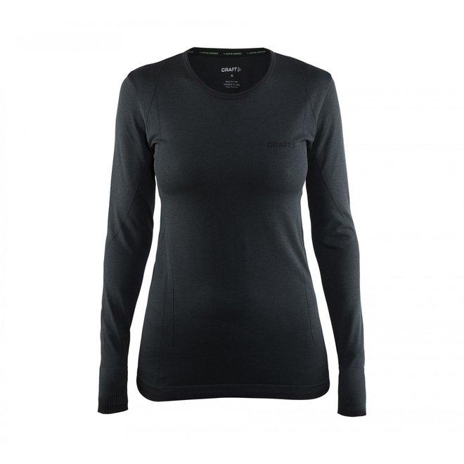 Craft Dames Thermo Shirt Merino Zwart