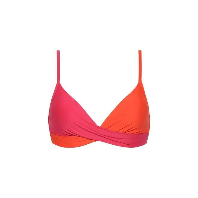 Beachlife Top - Bikini Foam + Wired Bright Rose