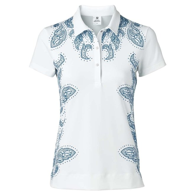 Daily Sports Dames Pammy Cap S Polo shirt Wit Print