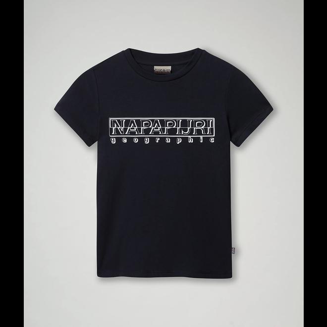 Napapijri K Soli Ss Sum Blu Marine Kids T-shirt Donkerblauw