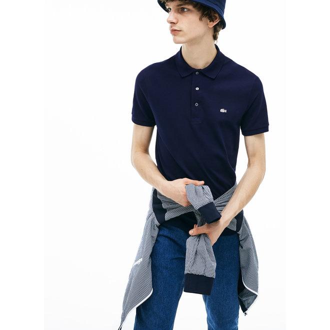 Lacoste Heren Short Sleeve Polo 011 Donkerblauw Wit Logo