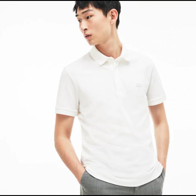 Lacoste Heren Short Sleeve Polo 011 Wit met Wit Logo