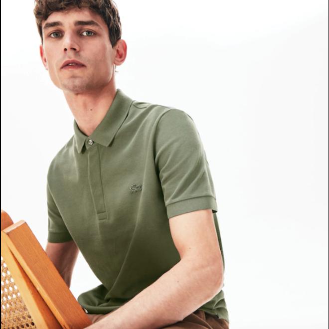 Lacoste Heren Short Sleeve Polo 011 Groen met Groen logo