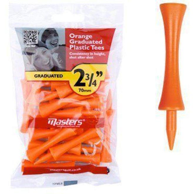 Masters Orange Graduated Plastic Tees