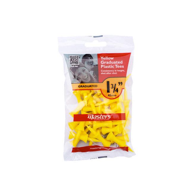 Masters Yellow Graduated Plastic Tees