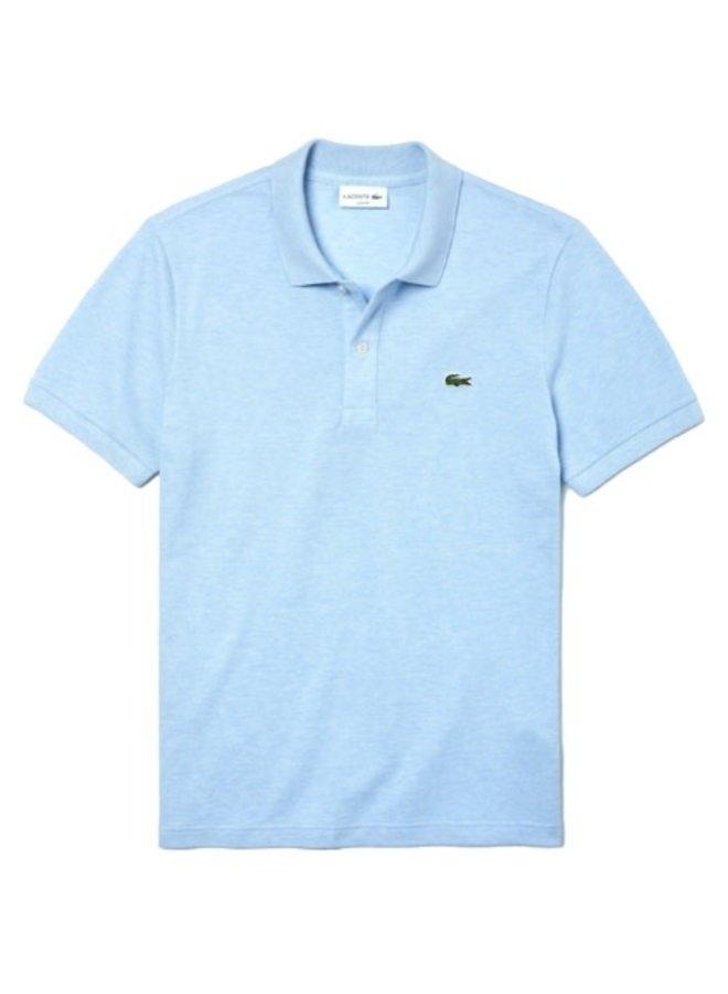 Lacoste Heren Polo Slim Fit Mel.Lichtblauw