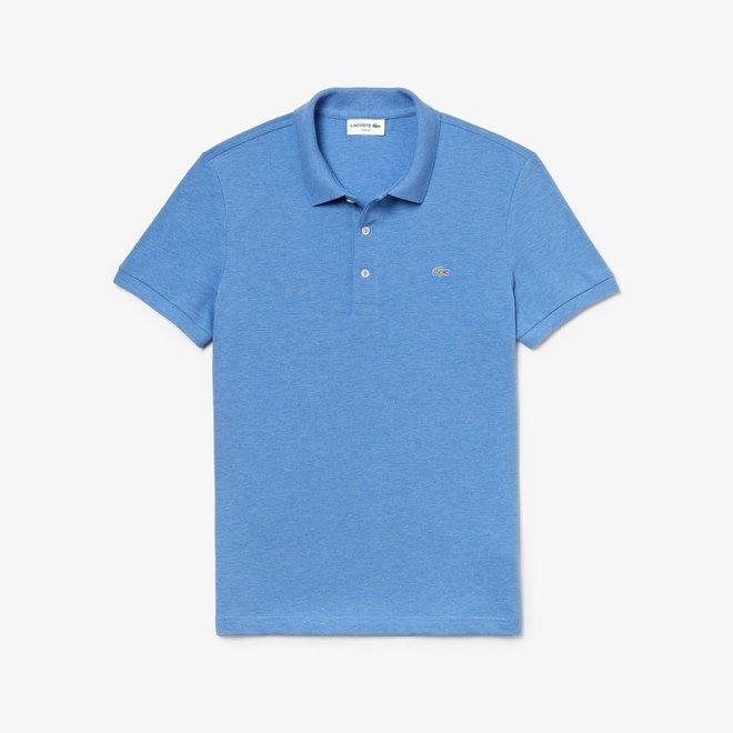 Lacoste Heren Polo Slim Fit Stretch Mel.Lichtblauw