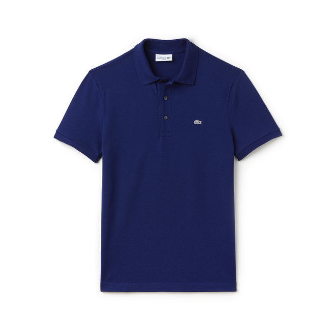 Lacoste Heren Polo Slim Fit Stretch Purple Blue