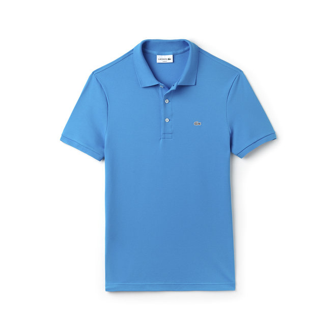 Lacoste Heren Polo Slim Fit Stretch Kobalt