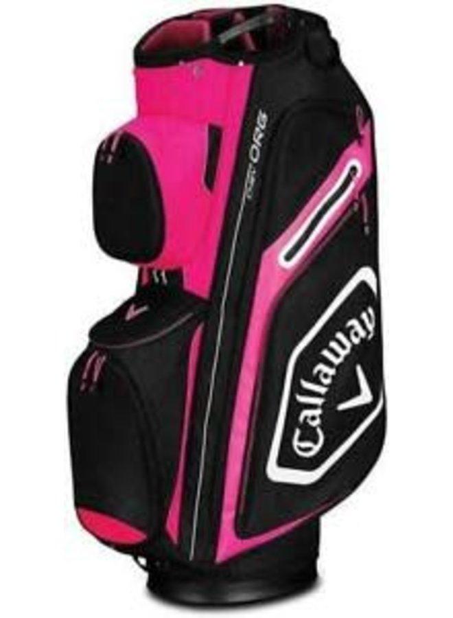 Callaway Golf Cartbag Chev Org Zwart Roze Wit