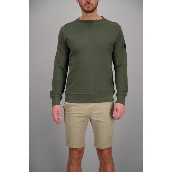 Airforce Heren Sweater Olijfgroen