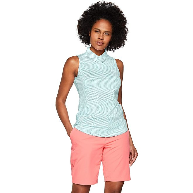 Under Armour Dames Sleeveless Performance Polo Mint Print