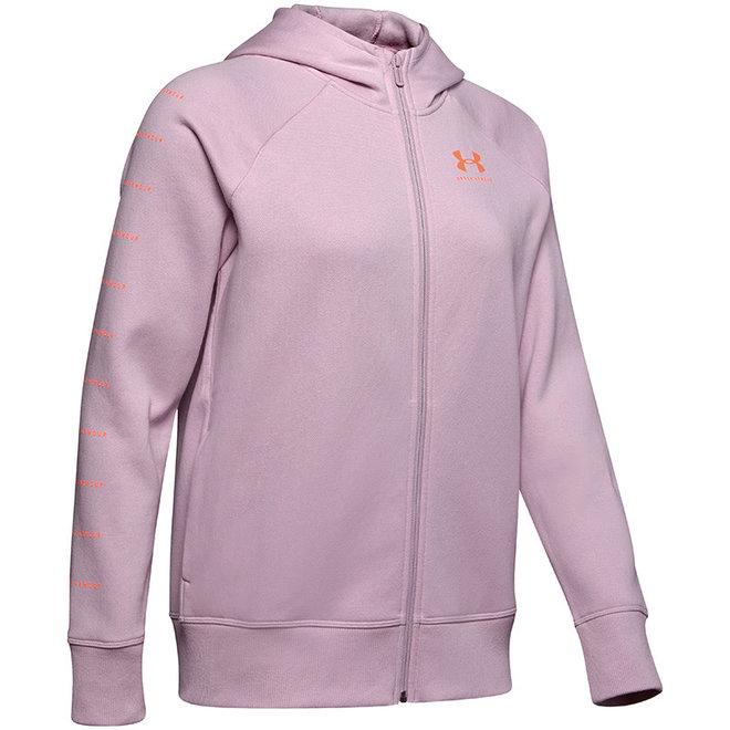 Under Armour Dames Fleece Vest Sportstyle Lipstick pink