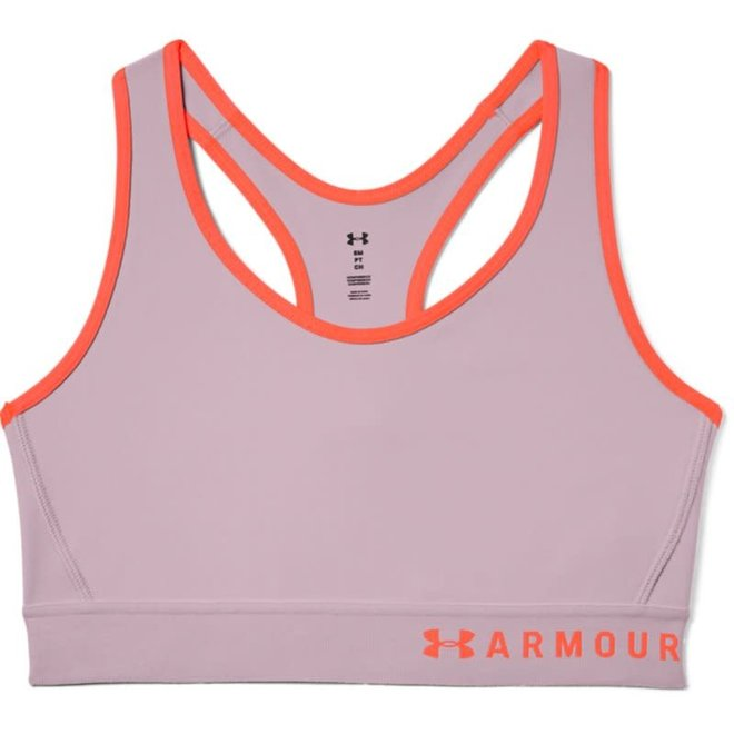 Under Armour Dames Mid Keyhole Sport Bra Pink Frog