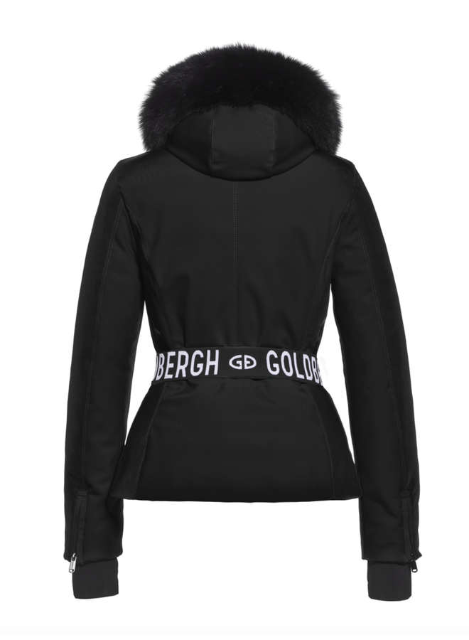 Goldbergh Hida Jacket Real Fox Fur Black
