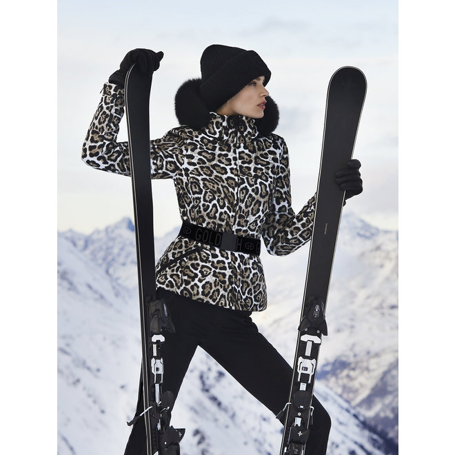Goldbergh Wild Jacket Faux Fur Leopard