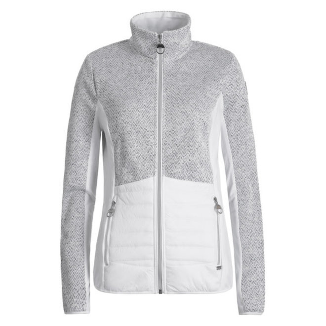 Luhta Elielsaari Woman Sweater With Zip Grey/White