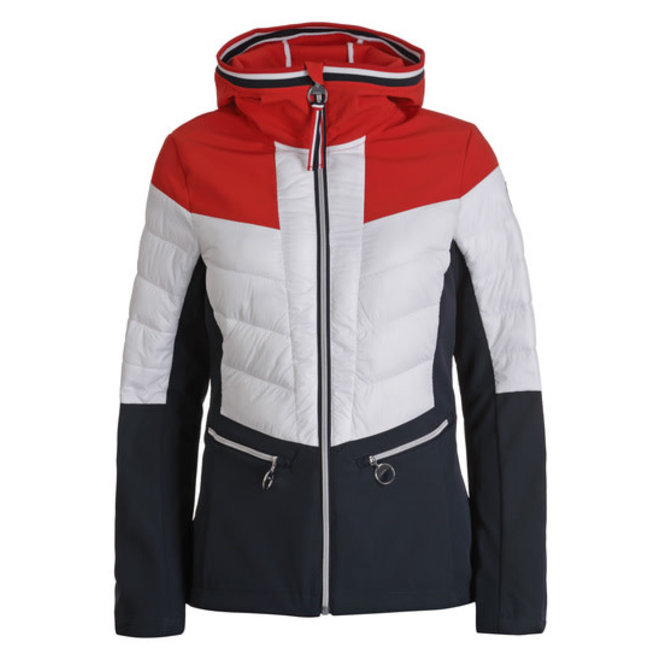 Luhta Ehunsalmi Dames Softshell Jacket Rood/Wit/Blauw