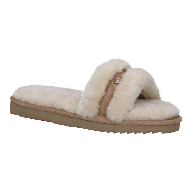 Clair Dames Pantoffels Fur Stone