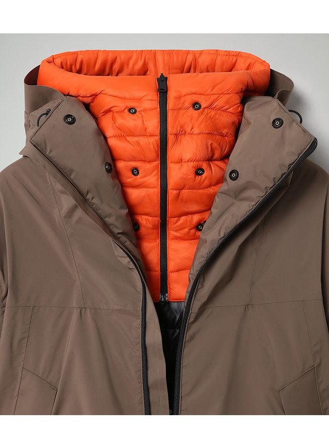 Napapijri Fahrenheit Winter Heren Jas Natural Morel