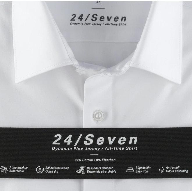 Heren Overhemd 24/Seven Level 5 Body Fit Wit
