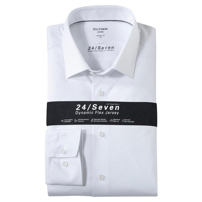 Heren Overhemd 24/Seven Luxor Modern Fit Wit