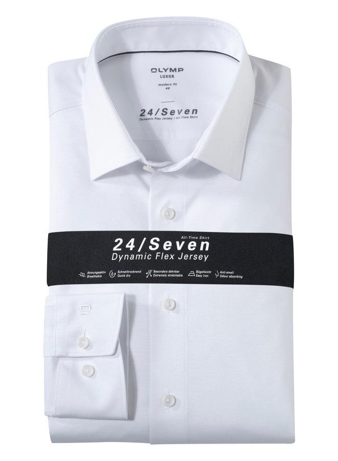 Olymp Heren Overhemd 24/Seven Luxor Modern Fit Wit