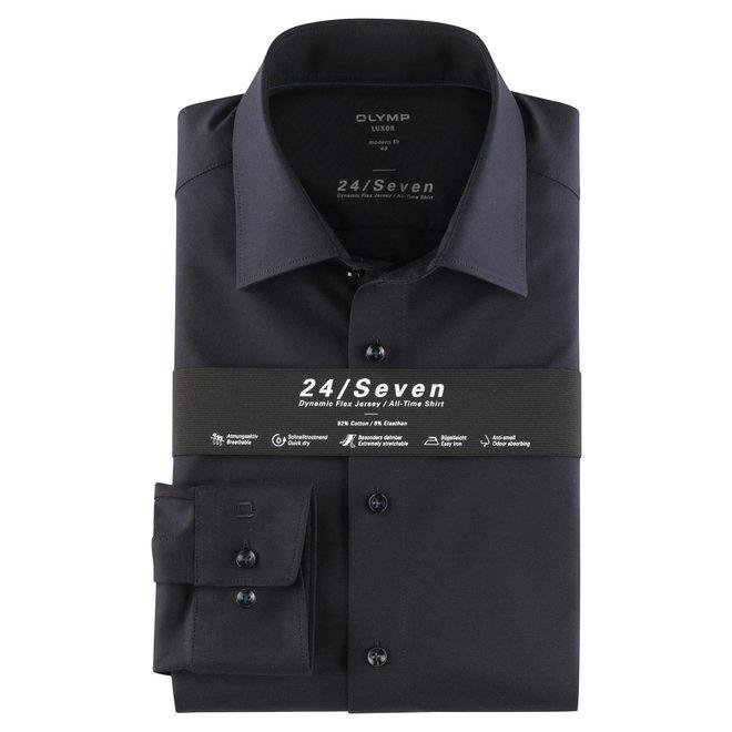 Olymp Heren Overhemd 24/Seven Luxor Modern Fit Donkerblauw