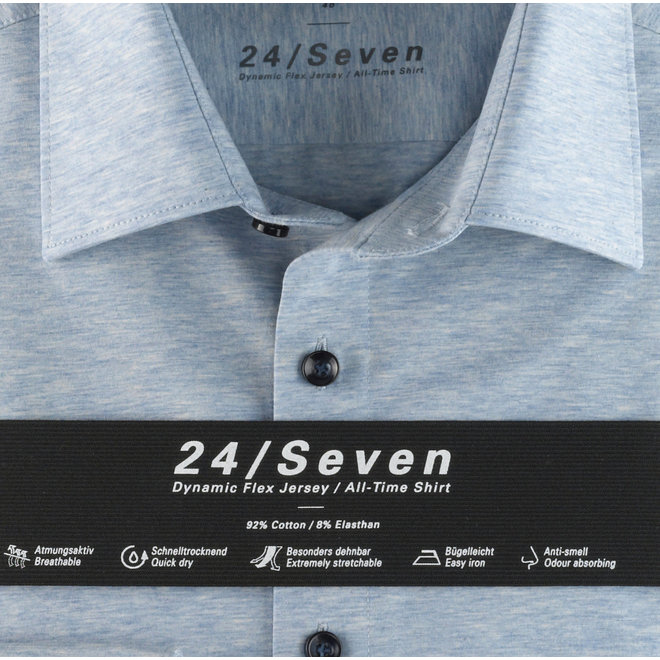 Heren Overhemd 24/Seven Level 5 Body Fit Lichtblauw