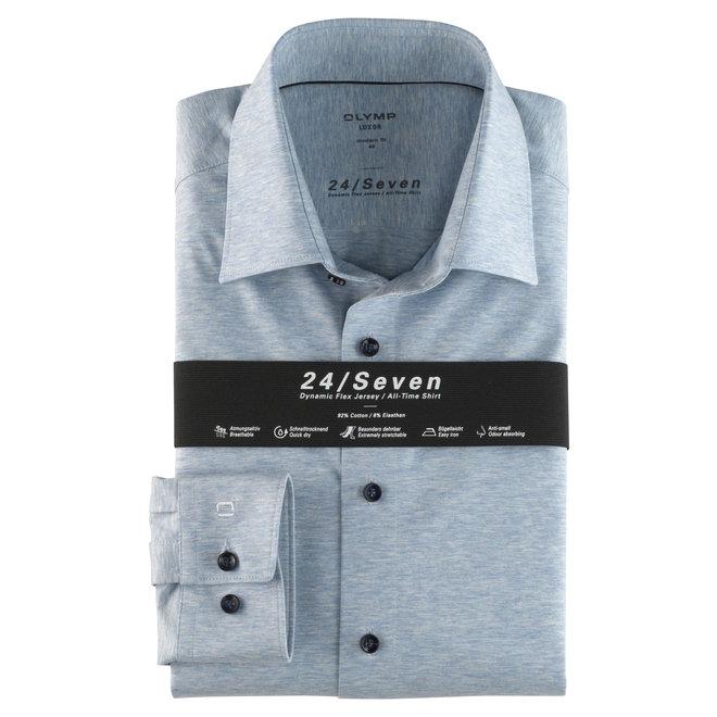 Heren Overhemd 24/Seven Luxer Modern Fit Lichtblauw