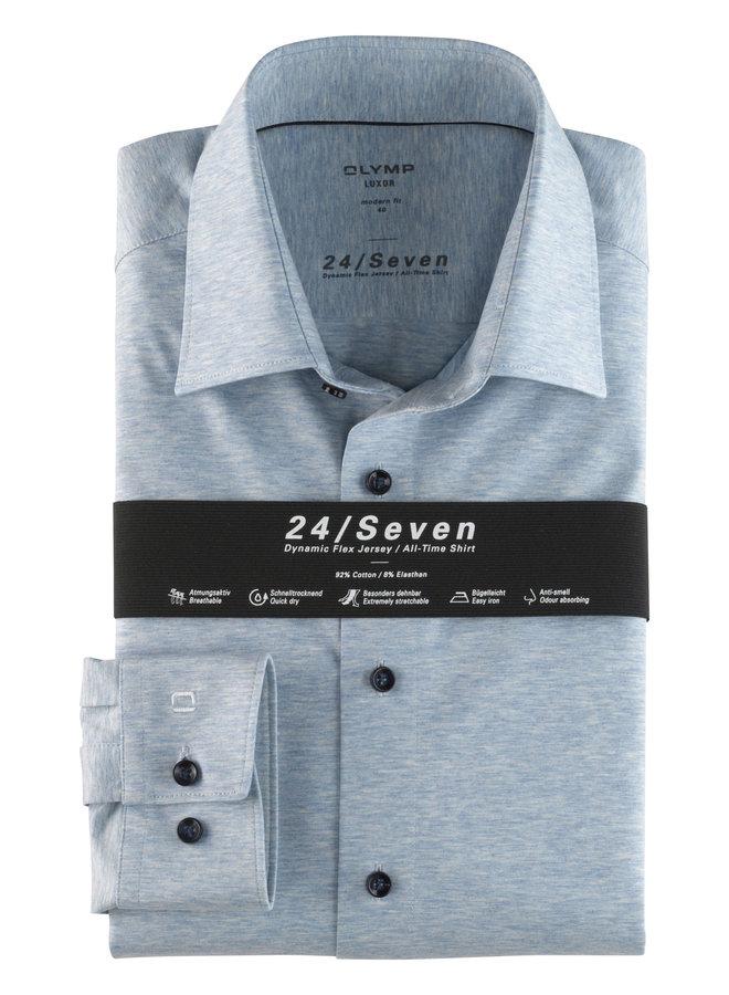Olymp Heren Overhemd 24/Seven Luxer Modern Fit Lichtblauw