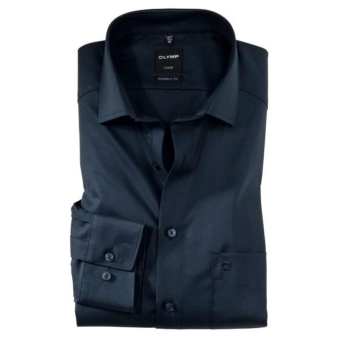 Olymp Luxor Modern Fit Overhemd Donkerblauw