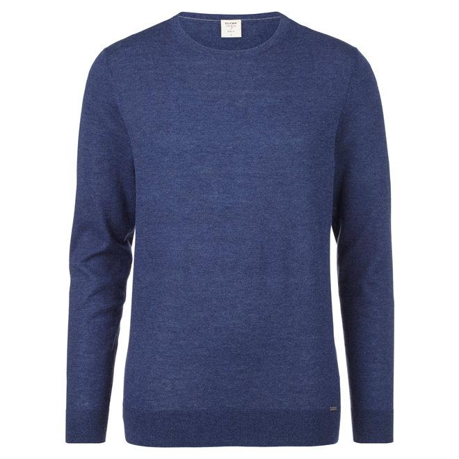 Olymp Heren Level Five Body Fit Merino Silk Blauw