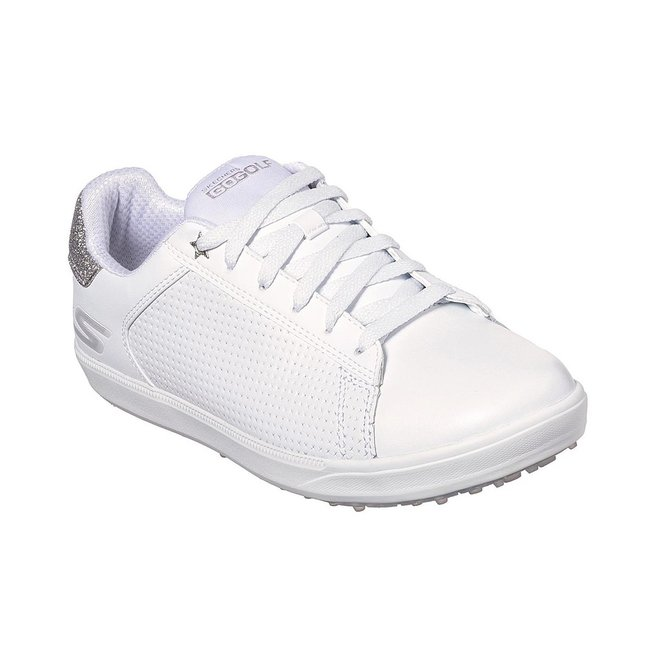 Skechers Go Golf Driver Shimmer Golfschoen Wit/zilver