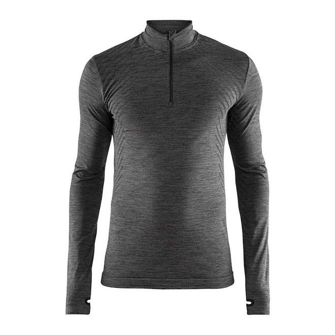 Craft Dry Fuseknit Comfort Zip Men Black Melange